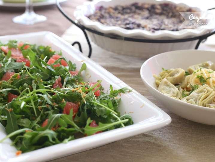 light Mediterranean dinner