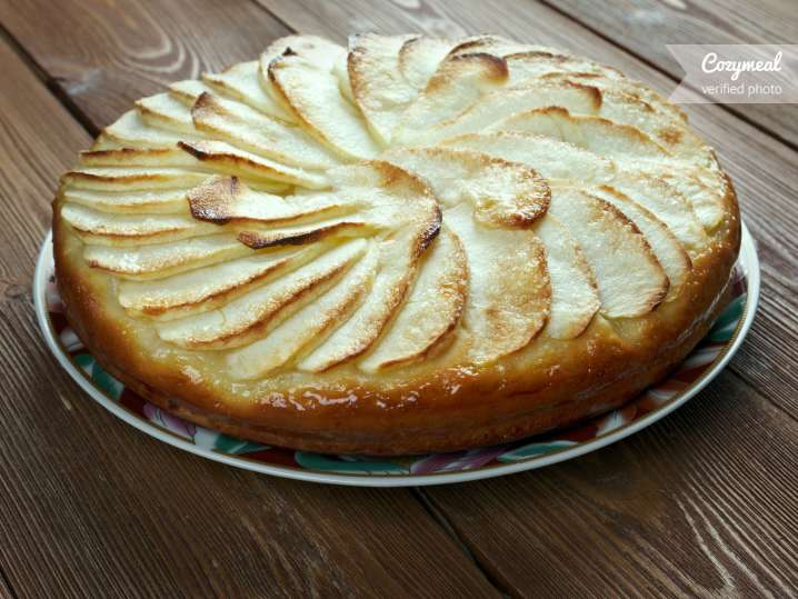 Brown Butter Pear Cake with Salted Caramel Sauce