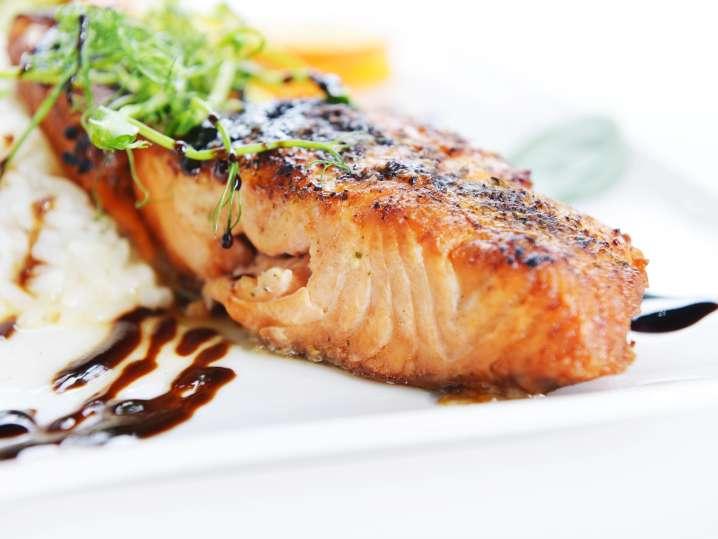Honey Cayenne Walnut Salmon*