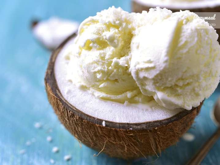 Strawberry coconut ice cream