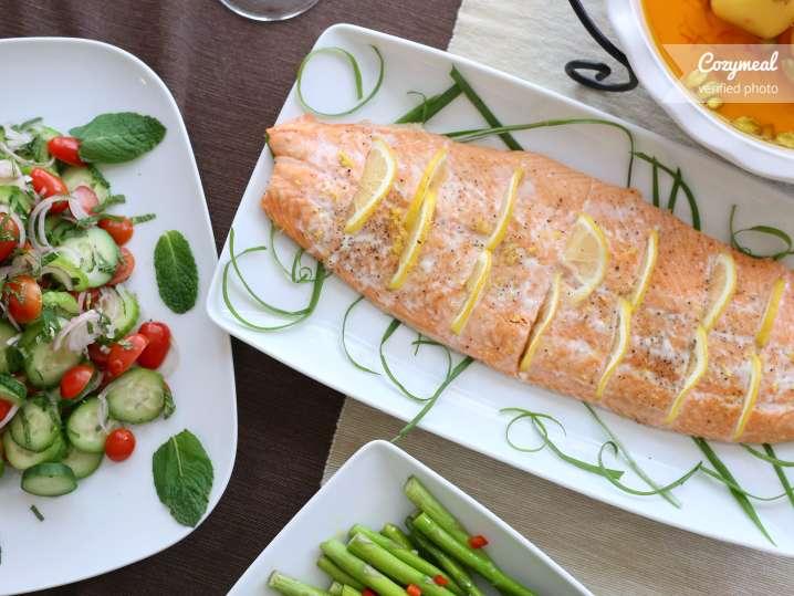 Mediterranean salmon supper