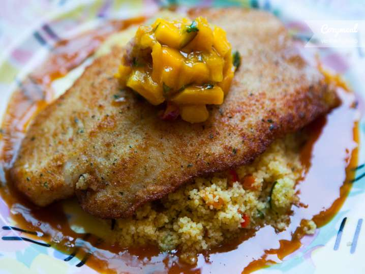 Sole with couscous