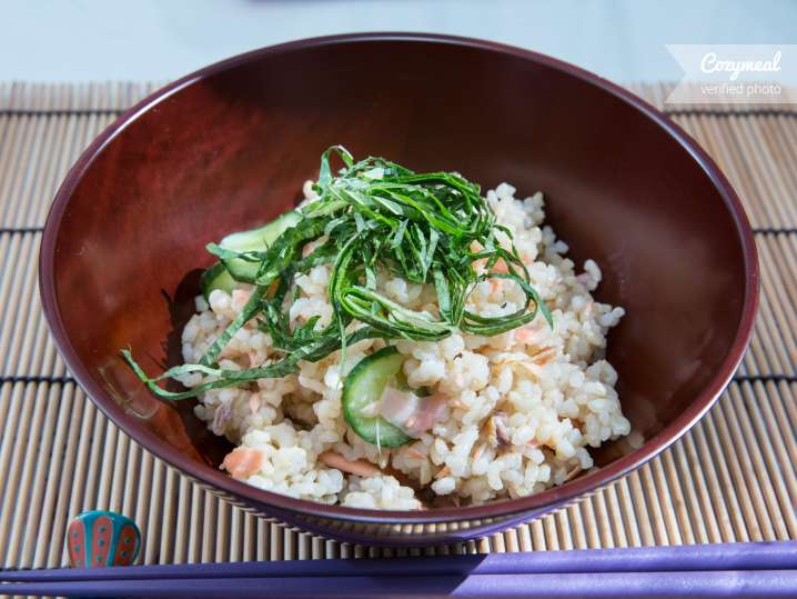 homestyle sushi-seasoned brown rice