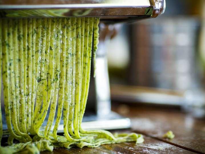 Handmade Herbed Fettuccine Pasta