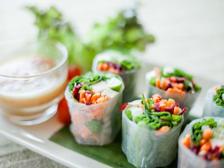 Fresh and Healthy Spring Rolls