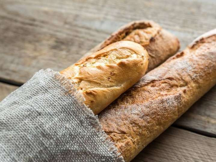baguette loaves on a table