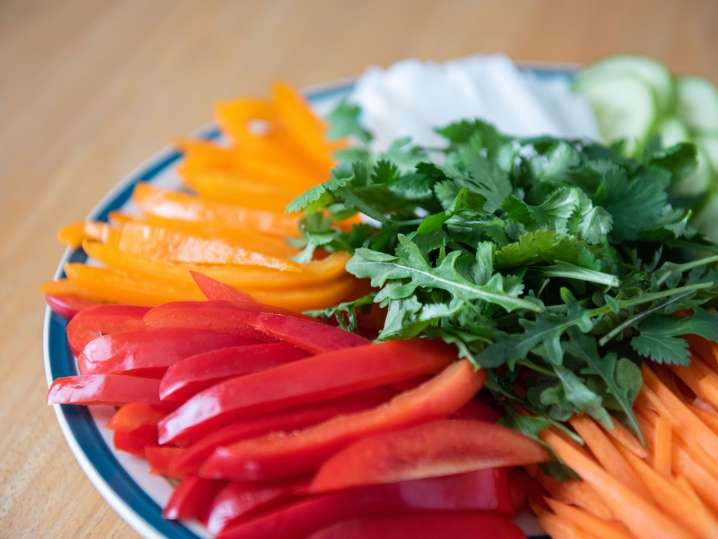 vegetable crudite platter