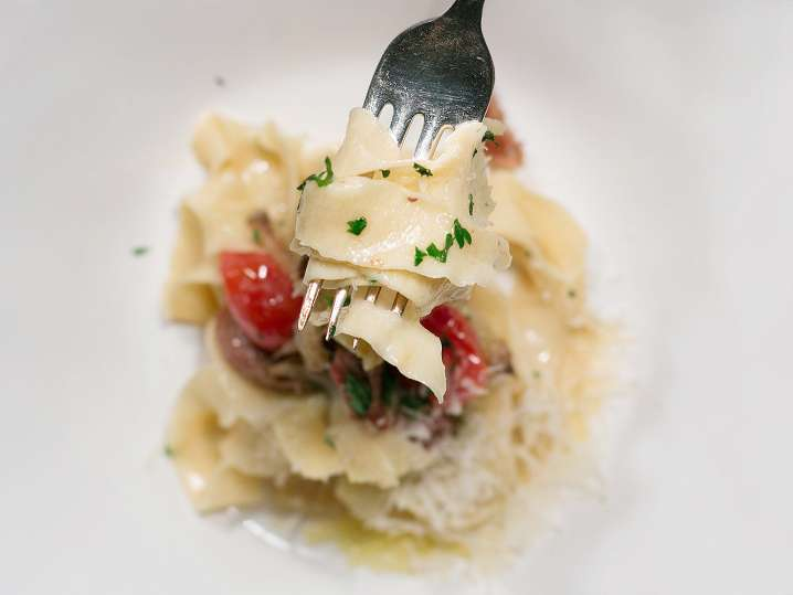 Handmade Pasta With Mushrooms