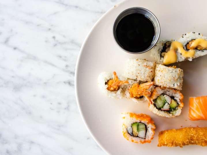 Signature Sushi Rolls and Sauces
