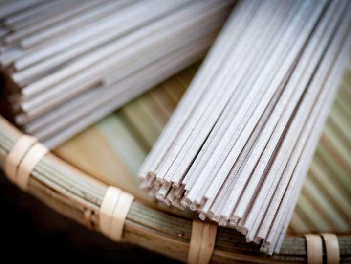 rice noodles on a mat