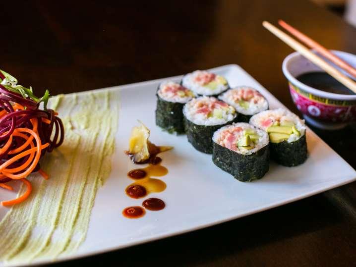 Fort Lauderdale - handmade spicy tuna sushi rolls with avocado.jpg