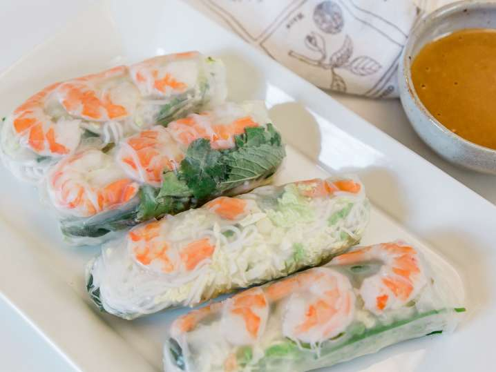 Fresh Shrimp Spring Rolls