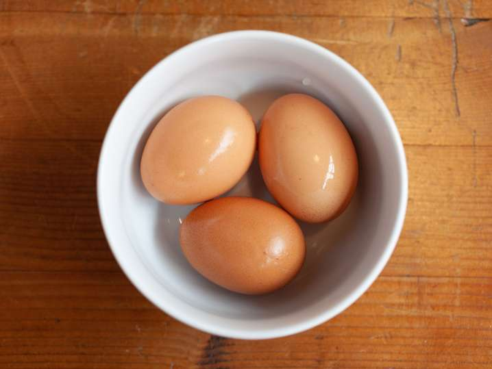 eggs in a ceramic bowl