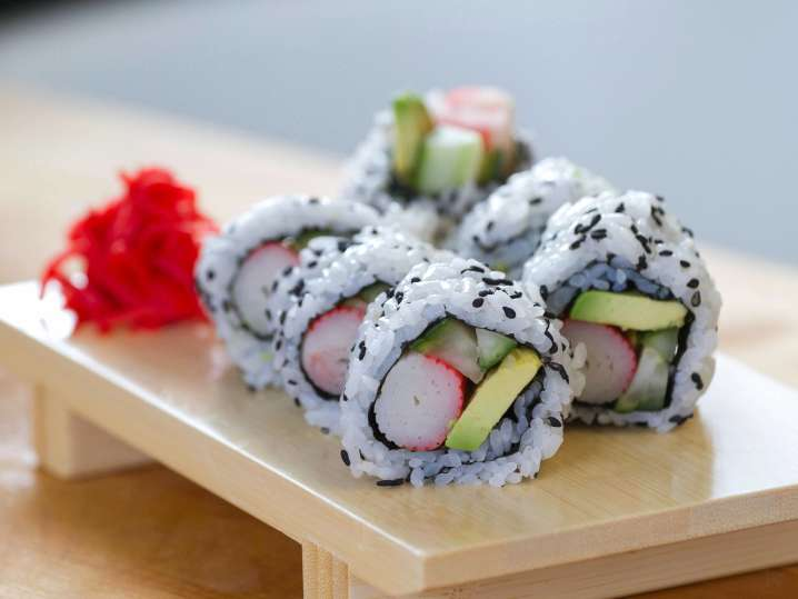 Japanese Sushi and Miso Soup