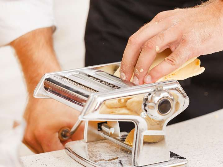 Handmade Fettuccine Pasta and Sauce
