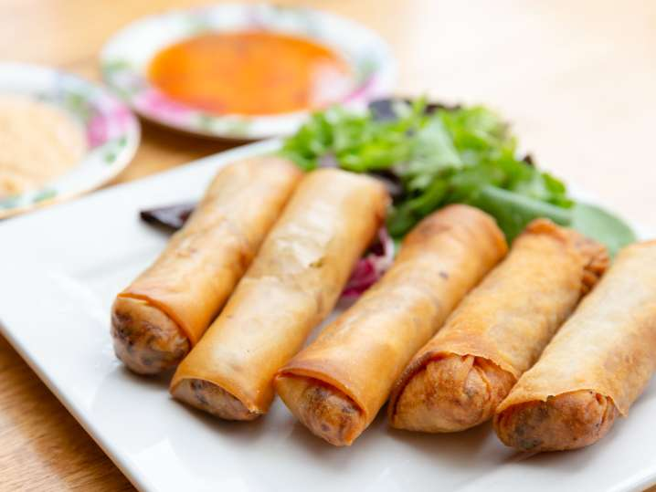 Thai and Chinese Egg Rolls