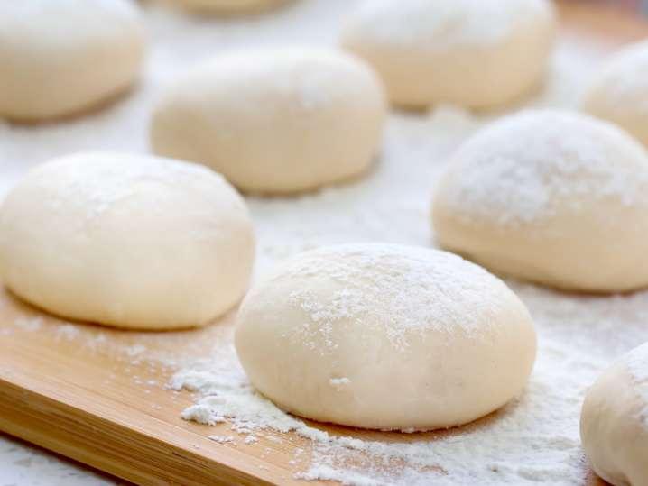 gnocchi dough on a floured surface