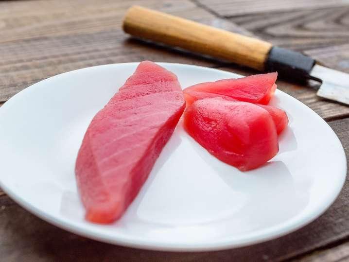 fresh tuna on a plate