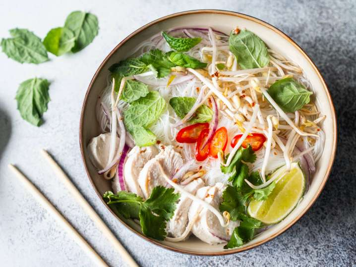 Vietnamese Pho and Spring Rolls
