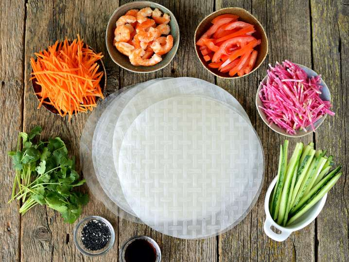 Los Angeles - vegetables and ingredients for spring rolls.jpg