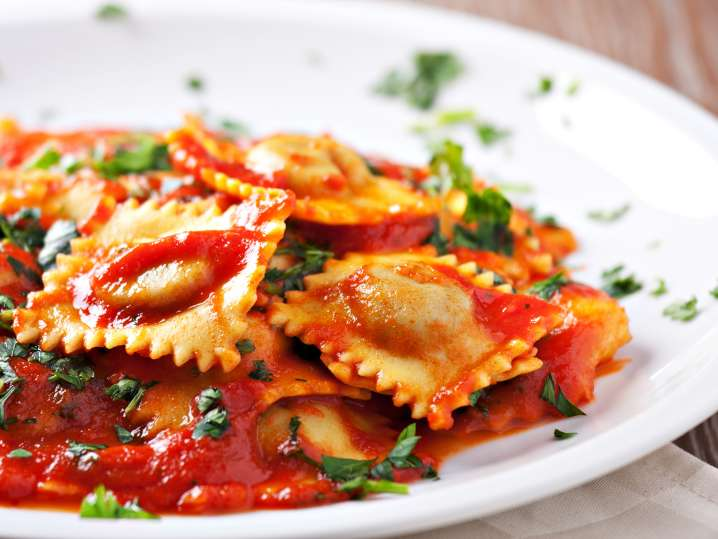 Handcrafted Ravioli With Homemade Marinara