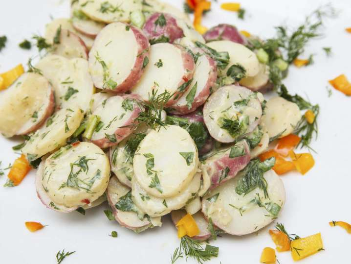 potato and cucumber salad with dill | Classpop