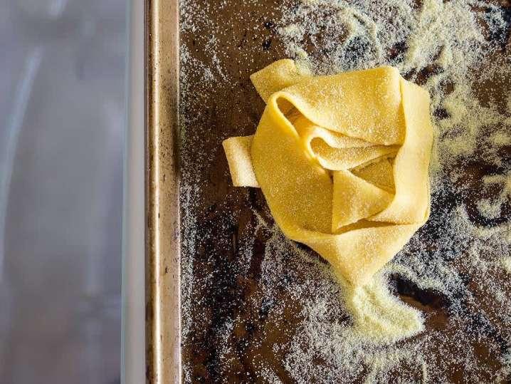 homemade pappardelle pasta   Classpop
