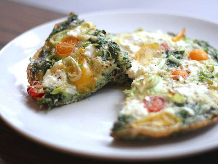 frittata with tomatoes and spinach | Classpop