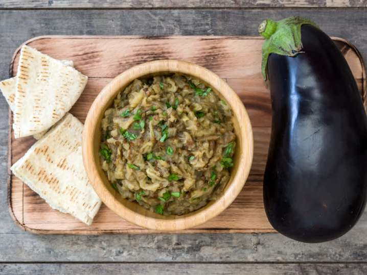 Baba Ghanoush With Toasted Pita Bread | Classpop