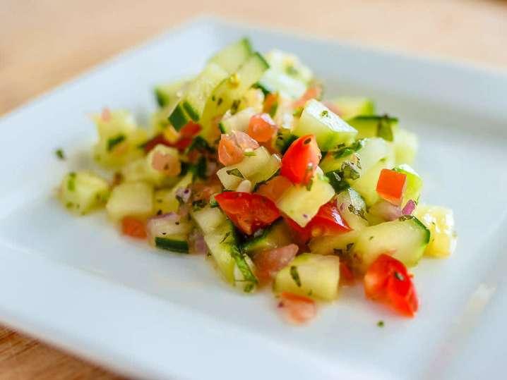 tomato and cucumber salad | Classpop