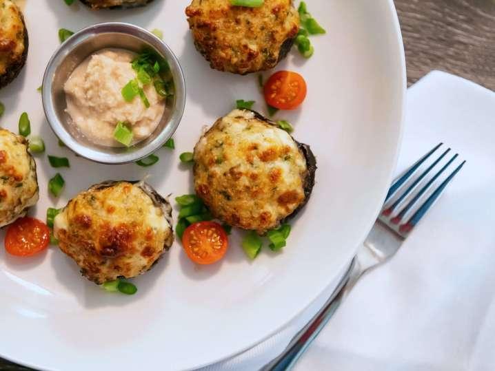 seafood stuffed mushrooms | Classpop