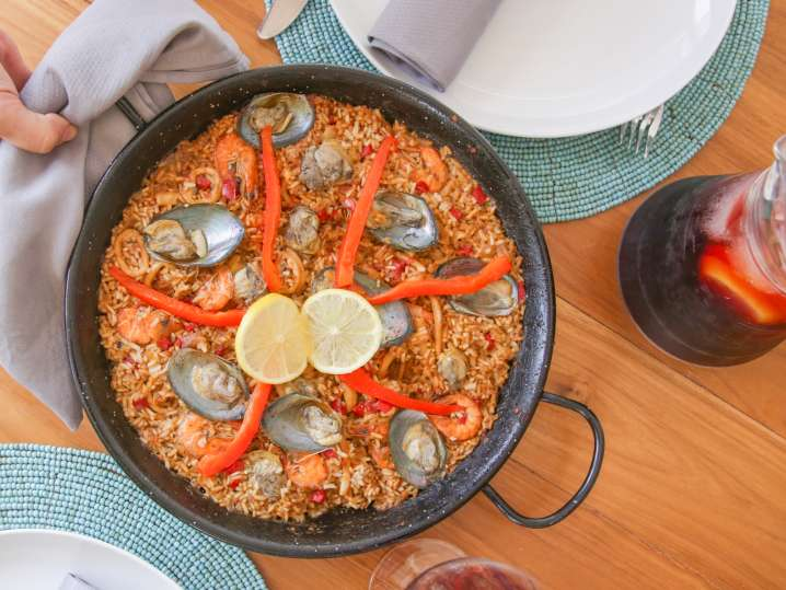 Perfectly Paired Sangria and Paella