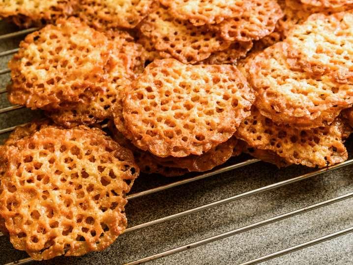 orange lace cookies | Classpop
