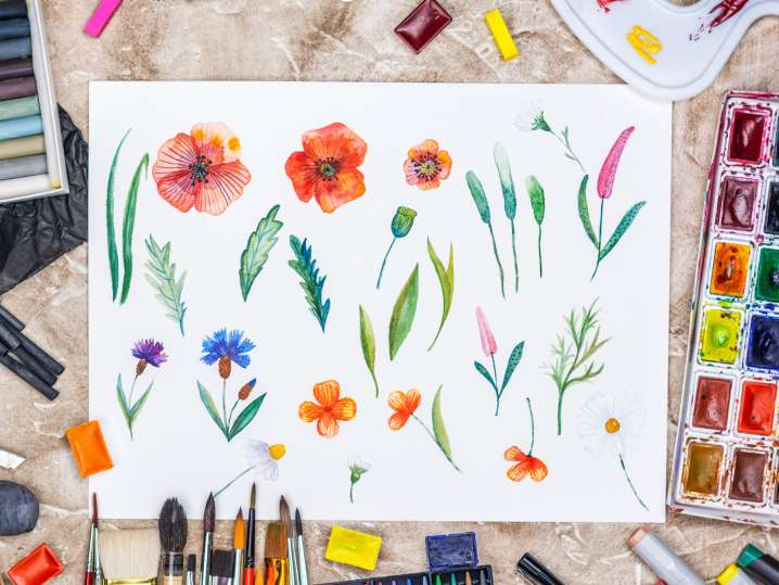 Watercolor Botanicals for Beginners