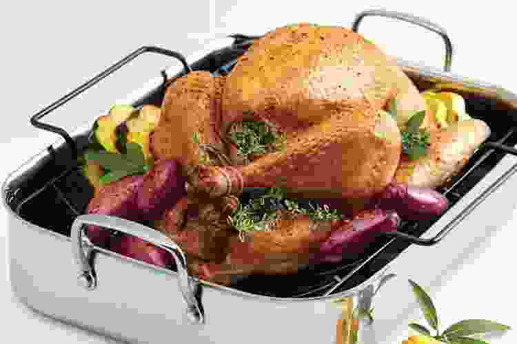 Anolon Try-Ply Clad Rectangular Roaster With Nonstick Rack