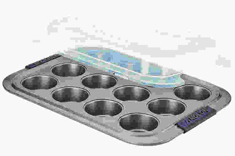 the Anolon Advanced Bakeware Muffin Pan With Lid is a fantastic muffin pan