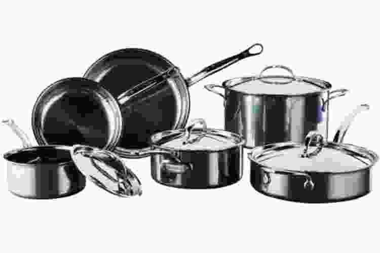 Hestan NanoBond Titanium Stainless Steel Essential Cookware Set, 10-Pc