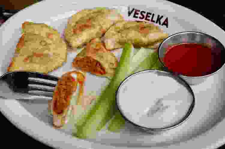 veselka serves some of the best dumplings in nyc