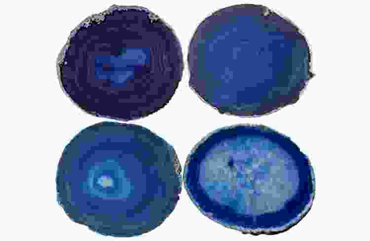 blue gem agate coasters