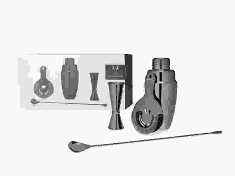 Viski Gunmetal Mixologist Barware Set