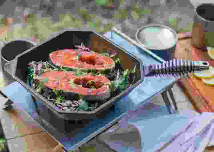 the Finex 10 Cast Iron Grill Pan is one of the best grilling gifts