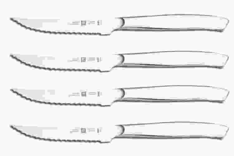 Zwilling 4-Pc Stainless Steel Serrated Mignon Steak Knife Set