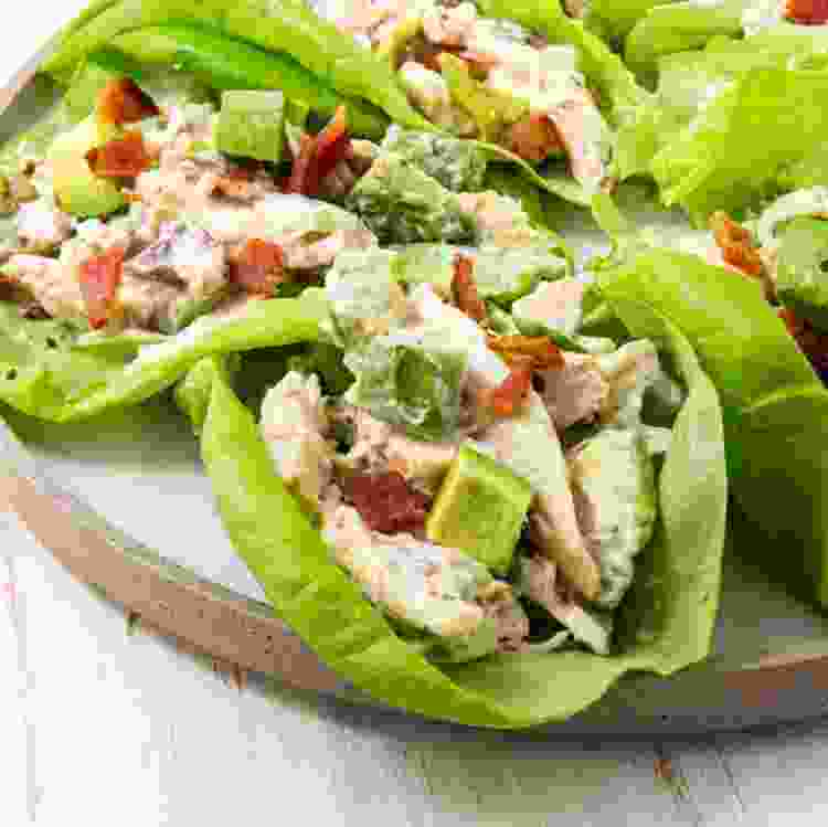 keto chicken salad is a delicious spring recipe to brighten up your table