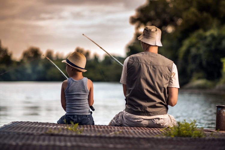 going fishing is one of the best things to do on father's day