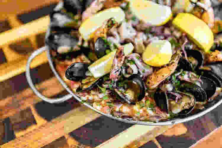 paella is a delicious bowl recipe
