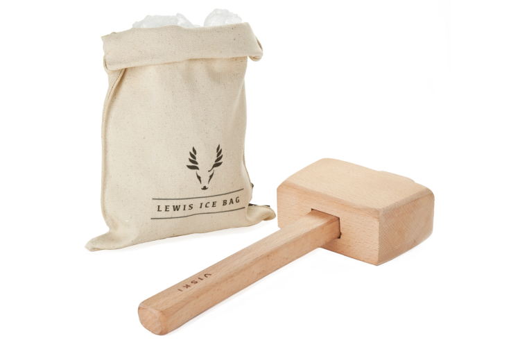 the Viski Lewis Ice Bag and Mallet is a thoughtful housewarming gift