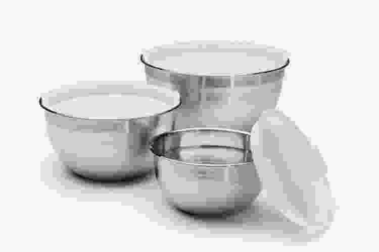 Cuisinart Stainless Steel Mixing Bowls with Lids — Set of 3