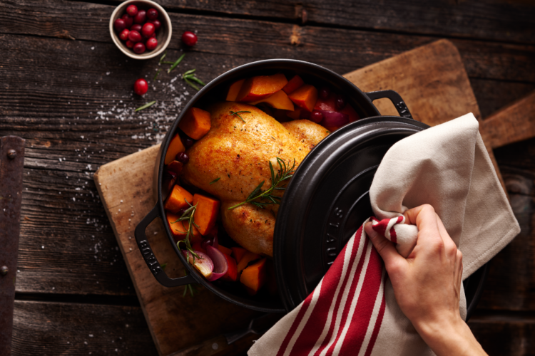 the Staub Round Cocotte 5.5 Qt is a useful keto gift