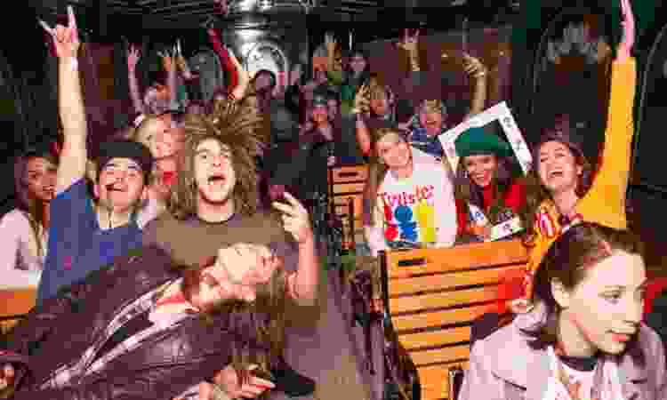 hire a party bus for a 21st birthday idea that doesn't include a bar