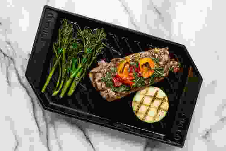 Finex 15 Inch Cast-Iron Lean Grill Pan
